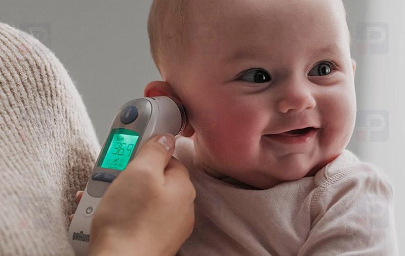 Çocuklar için Kulaktan Ateş Ölçer Termometre